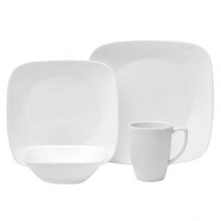 Corelle® Square™ Pure White-16 piese Serviciu de masă