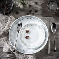 Serviciu de masă , Farfurii în set 16 piese-Corelle® Mystic Gray