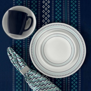 Serviciu de masă , Farfurii în set 16 piese-Corelle® Folk Stitch