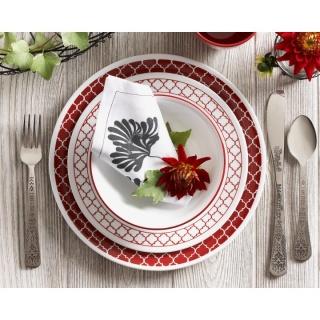Serviciu de masă , Farfurii în set 16 piese-Corelle® Crimson Trellis