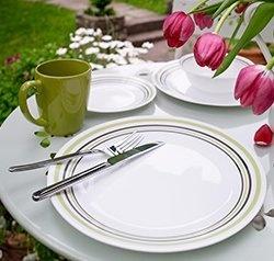 Serviciu de masă , Farfurii în set 16 piese-Corelle® Garden Sketch Bands