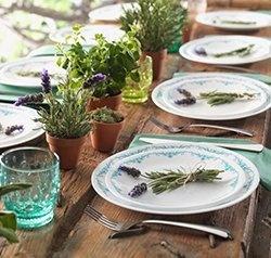 Serviciu de masă , Farfurii în set 16 piese-Corelle® Garden Lace