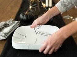 Serviciu de masă , Farfurii în set 18 piese-Corelle® Simple Lines