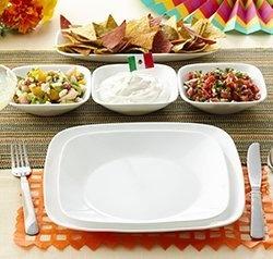 Serviciu de masă , Farfurii în set 16 piese-Corelle® Pure White