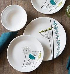 Serviciu de masă , Farfurii în set 12 piese-Corelle® Abstract Meadow