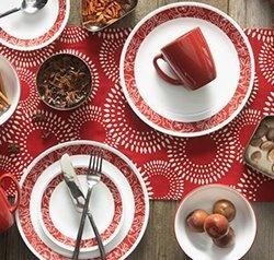 Serviciu de masă , Farfurii în set 16 piese-Corelle® Bandhani
