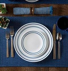 Serviciu de masă , Farfurii în set 16 piese-Corelle® Classic Café Blue