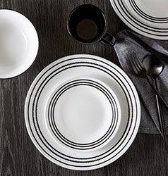Serviciu de masă , Farfurii în set 16 piese-Corelle® Onix Black
