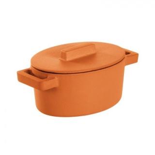 Mini oval Vas TerraCotte -Sambonet din Fontă emailată -0.45 l