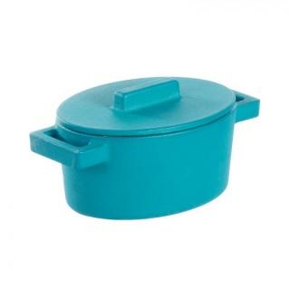 Mini oval Vas TerraCotto -Sambonet din Fontă emailată -0.45 l