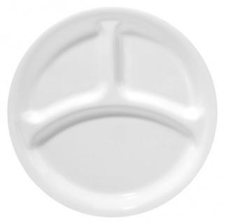Farfurie compartimentată întinsă 26 cm-Corelle® Winter Frost White