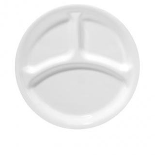 Farfurie compartimentată întinsă 22 cm-Corelle® Winter Frost White