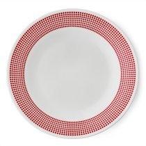 Farfurie întinsă 28 cm -Corelle® Bayside Dots- Rosu