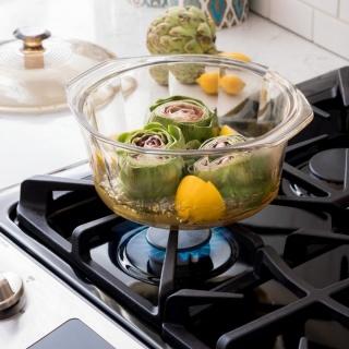 Vas de gătit termorezistent 2.2 l cu capac-Visions® Diamond