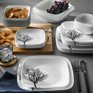 Serviciu de masă , Farfurii în set 26 piese-Corelle® Timber Shadows