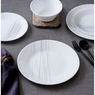 Serviciu de masă , Farfurii în set 16 piese-Corelle® Silver Strands