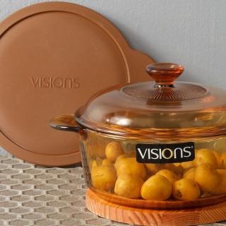 Vas de gătit termorezistent 0.8 l cu 1 Capac din sticla +1 Capac din Plastic-Visions® Standard