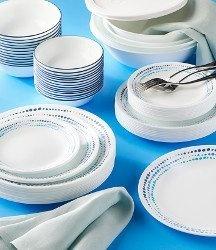 Serviciu de masă , Farfurii în set 78 piese-Corelle® Ocean Blue