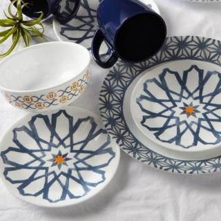 Serviciu de masă , Farfurii în set 16 piese-Corelle® Amalfi Azul