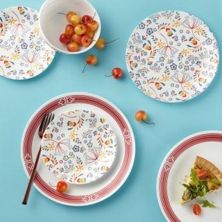 Serviciu de masă , Farfurii în set 16 piese-Corelle® Prairie Garden Red