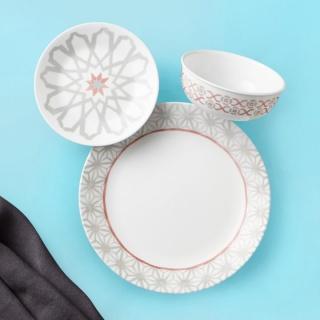 Serviciu de masă , Farfurii în set 18 piese-Corelle® Amalfi Rosa