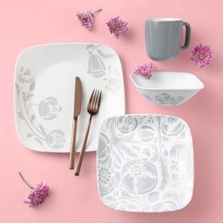Serviciu de masă , Farfurii în set 16 piese-Corelle® Night Blooms Grey