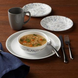 Serviciu de masă , Farfurii în set 16 piese-Corelle® Prairie Garden Grey