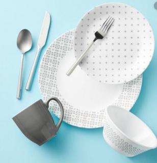 Serviciu de masă , Farfurii în set 16 piese-Corelle® Farmstead Dark Grey