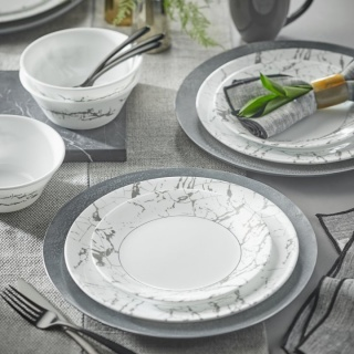 Serviciu de masă , Farfurii în set 16 piese-Corelle® Stone Grey